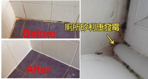 終於有解!廁所的〔矽利康〕發霉了?只要廚房紙巾沾上...竟然馬上白回來!100%有效又簡單!