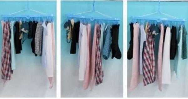 冬天只要室內這樣曬衣服,學會後再也不會「晾不乾」了!