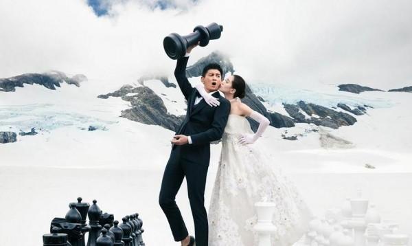 吳奇隆劉詩詩婚紗照終於曝光啦!滿滿都是愛!尤其是第3張,快把大家給閃瞎啦!