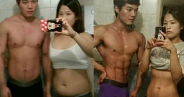 韓國出現一對情侶,只用四個月男生從83公斤減至71公斤,女生從62公斤減至49公斤,竟然只靠這樣就瘦了!