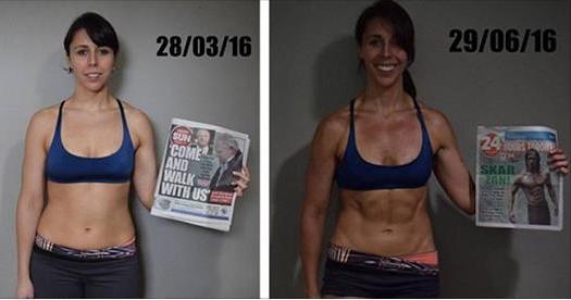 她沒有減肥,就只是一直做「這個運動」!沒想到3個月後,她的結果震驚全世界!
