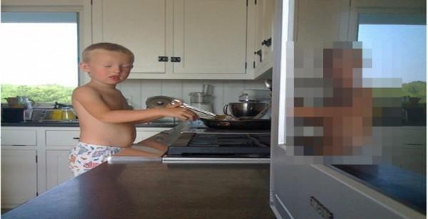 超詭異!ㄧ名爸爸幫兒子拍生活照,卻拍到了令大家都「毛骨悚然的畫面」!