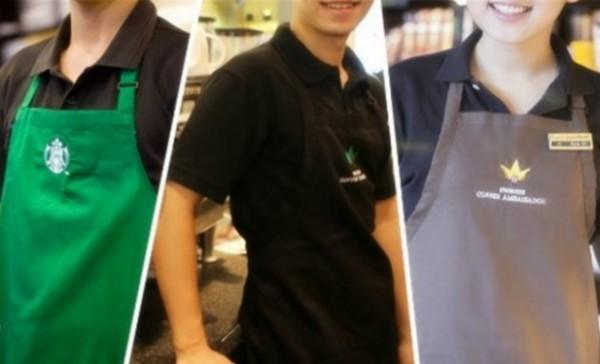 沒想到星巴克「三種顏色」圍裙的店員竟然隱藏天大秘密,下次去買咖啡記得一定要找穿黑色圍裙的!