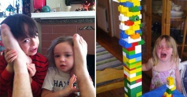 20個完全「用生命在整小孩」的調皮爸媽,第7張證明了爸爸心智只有3歲!