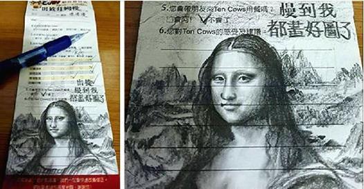 這位顧客在餐廳裡信手塗鴉,居然在國際媒體上爆紅!網友們都笑趴,原因居然是...