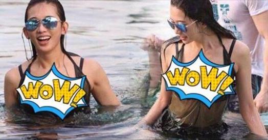迪麗熱巴泳裝確實清秀,網上流傳的竟然只有這張劇照。不老女神志玲姐姐就...