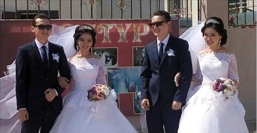 這對雙胞胎姐妹「嫁給雙胞胎兄弟」接著又同時懷孕!沒想到「婚禮當天」新郎竟...看傻了!