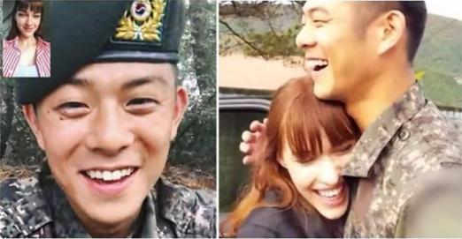 德國女模騙當兵韓國男友「明天不能視訊」,串通男友爸媽「飛13小時現身軍營」幸福到哭!