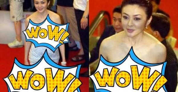 近日,55歲關之琳出席活動穿成這樣,網友:眼看衣服就要掉下來了